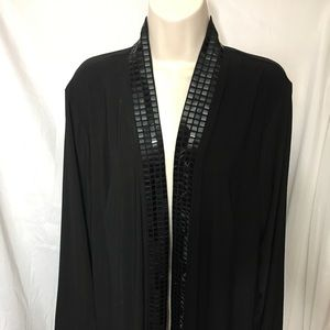 #361–. Blu Sage black open front cardigan size 1X